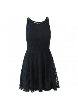 Φόρεμα αμάνικο με δαντέλα